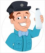 Milkman - Vector Character Illustration