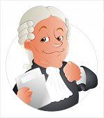 image of magistrate  - Drawing Art of Cartoon Judge Magistrate Character Vector Illustration - JPG