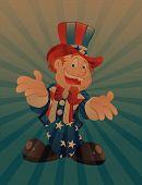 Uncle Sam Vintage Background