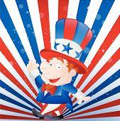 Cute Kid Uncle Sam
