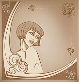 Tender Sepia Roaring 20-s Girl Background