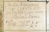 Marion Davies Handprints In Hollywood Boulevard In The Concrete Of Chinese Theatre's Forecourt