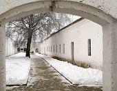Yard Cellblock In Holy Euthymius Monastery In Suzdal