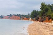 stock photo of nea  - Mediterranean seacoast in winter - JPG