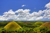stock photo of chocolate hills  - View of the Chocolate Hills in Bohol - JPG