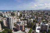 Downtown San Juan, Puerto Rico aerial.