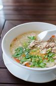 Rice Porridge With Pork And Vegetable