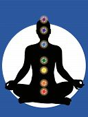 stock photo of kundalini  - 7 chakras in the body  - JPG