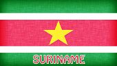 Linen Flag Of Suriname