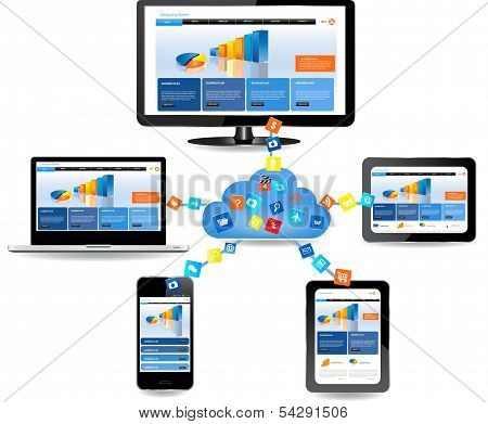 Cloud Computing Concept Design poster
