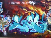 foto of graff  - Taken at the Graffiti Hall of Fame playground in Harlem New York City - JPG
