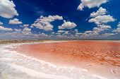 Salt Pool And Blue Sky