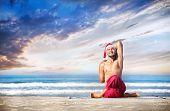 Christmas Yoga On The Beach