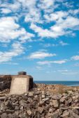 image of emplacements  - A WW2 Pillbox situated on the swedish coastline at Torekov - JPG