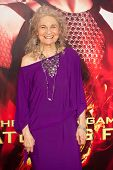 LOS ANGELES, CA - NOVEMBER 18: Actress Lynn Cohen arrives at the premiere of The Hunger Games: Catch
