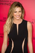 LOS ANGELES, CA - NOVEMBER 18: Sportscaster Erin Andrews arrives at the premiere of The Hunger Games