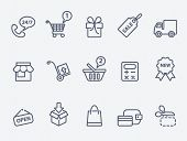 stock photo of gift basket  - Shopping icons - JPG
