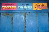 foto of tuck-shop  - a closed shop on the seaside in ireland - JPG