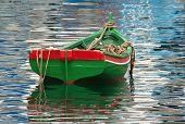 Boat Moored In Harbor