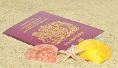 A British passport on the beach