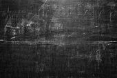 old black blank chalkboard for background