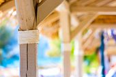 stock photo of kuramathi  - hut on a tropical island - JPG