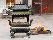 Buddhist Temple Sacred Ash Urn