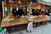 Street Market In Sanaa