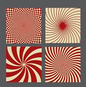 foto of hypnotizing  - retro vintage hypnotic background set - JPG
