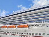 Closeup of  Cruise Ship