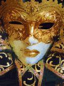 Venetian Carnival Mask - Oil Painting