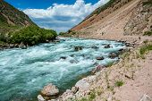 White water in Kyrgyzstan - Kekemeren river