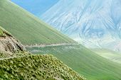 Wonderful road in majestic Tien Shan mountains