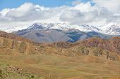 image of semi-arid  - Badlands in mountains, Tien Shan, Kyrgyzstan. See my other works in portfolio. ** Note: Slight graininess, best at smaller sizes - JPG