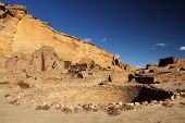 pic of pueblo  - Pueblo Bonito Kiva, Chaco Culture National Historical Park, New Mexico