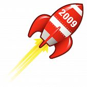 2009 Year Rocket Ship