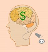 Brain With Dollar Sign