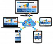 stock photo of social system  - Cloud computing concept design - JPG