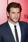 NEW YORK-NOV 20; Actor Liam Hemsworth attends the 'Hunger Games: Catching Fire' premiere at AMC Linc