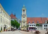 Main Square And Old Town Hall (13-15Th Century), Bratislava, Slovakia