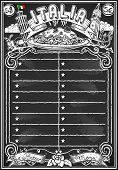 Vintage Blackboard For Italian Menu