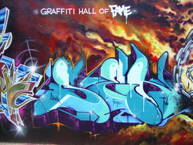 pic of graff  - Taken at the Graffiti Hall of Fame playground in Harlem New York City - JPG