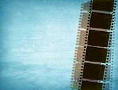 film strip for textures and backgrounds with space