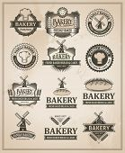 picture of windmills  - Vintage Retro Bakery Label Set  - JPG