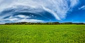 Panorama of Summer meadow. Bavaria, Germany
