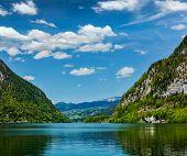 Hallst�?�?�?�¤tter See mountain lake in Austria. Salzkammergut region, Austria