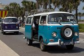 JACKSONVILLE BEACH, FL - APRIL 27, 2014: A classic Volkswagen Van at the 68th annual Opening of the
