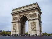 Paris, France, May 1, 2013 . Arc de Triomphe to the Place Charles de Gaulle.