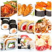 Collection of Japanese food