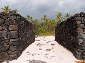 Rock Walls Of Pu'uhonua O Honaunau - Place Of Refuge